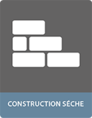 Colle pour adhesif en construction seche