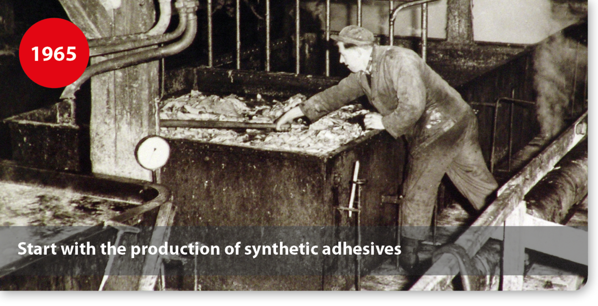 Start with the production of synthetic adhesives