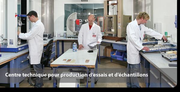 Centre technique pour production d'essais et d'échantillons