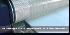 Machine d'application de colle pour production de panneaux sandwich