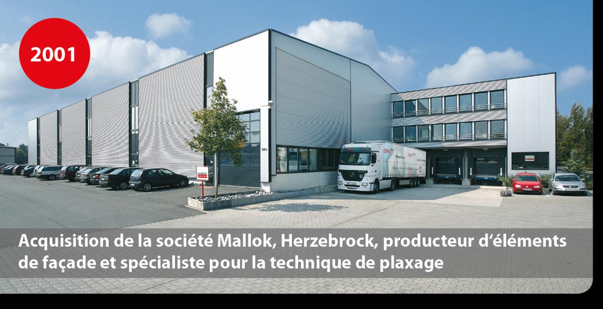 Acquisition de la société Mallok, Herzebrock, producteur d'éléments de façade et spécialiste pour la technique de plaxage