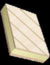 Sandwichelemente mit gefrästen Deckschichten aus verschiedenen Sperrhölzern