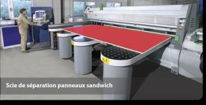 Scie de séparation panneaux sandwich