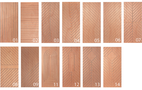 Design overview for milled top coats - wood composite panels