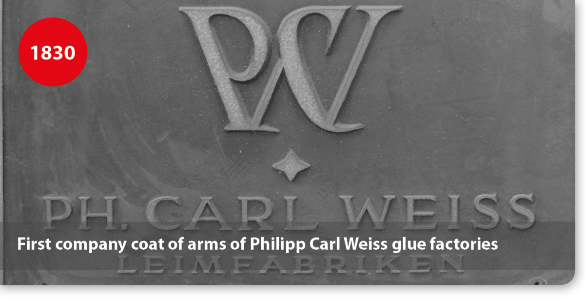 First company coat of arms of Philipp Carl Weiss glue factories