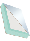 Sandwichelement COSMO Tech - beidseitig Dünnspan/EPS-Kern/Tk-Einleimer