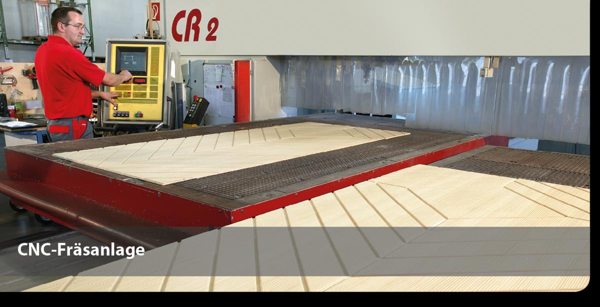 CNC-Fräsanlage für Sperrholz-Sandwichelemente