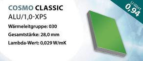 Sandwichplatte COSMO Classic ALU U-Wert 0,94