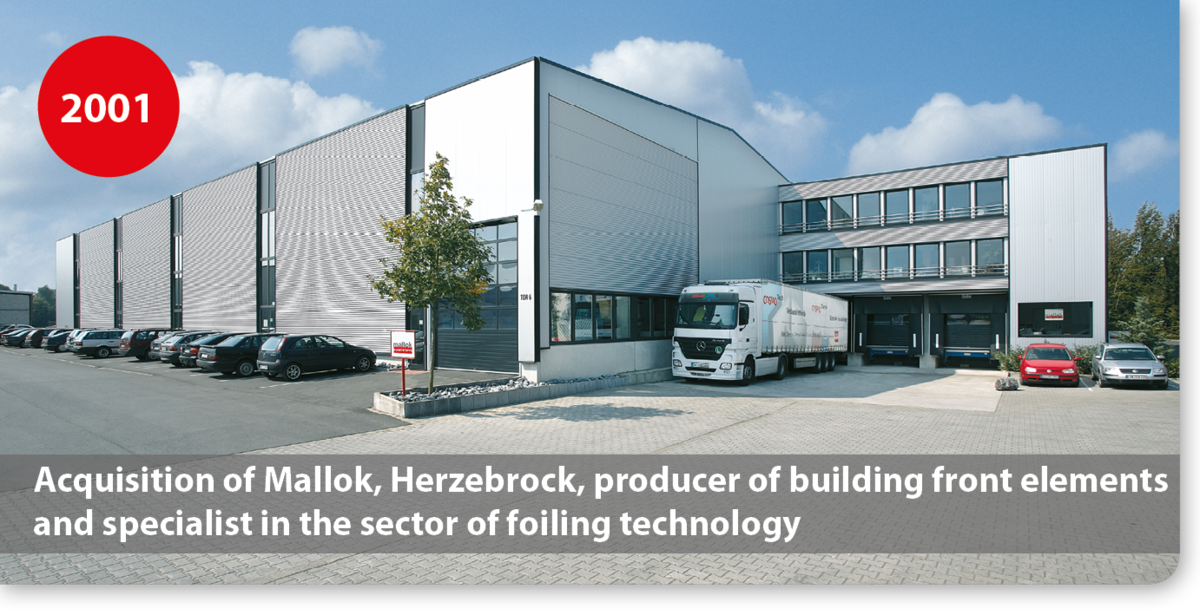 Acquisition of Mallok, Herzebrock, producer of building front elements and specialist in the sector of foiling technology