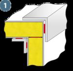 Klebstoff zum Kleben von Dachwinkeln