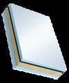 Sandwichelement für Fenster Cosmo Therm beideitig PVC - beidseitig PVC, XPS/PR-Kern, Schwerfolien-Einlage