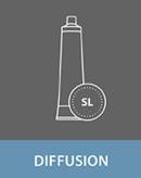 Diffusion adhesives