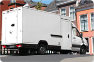 Bonding surface delivery van