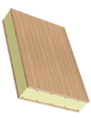 Sandwichelement COSMO Classic Quick Tape - beidseitig Sperrholz, mit PUR/AL-Kern