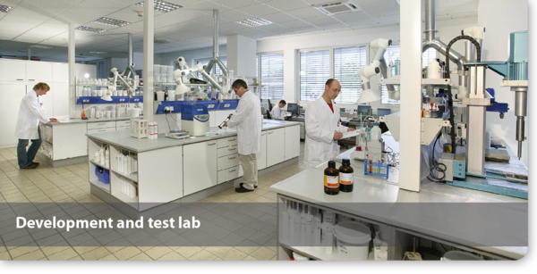 Development and test lab for adhesives