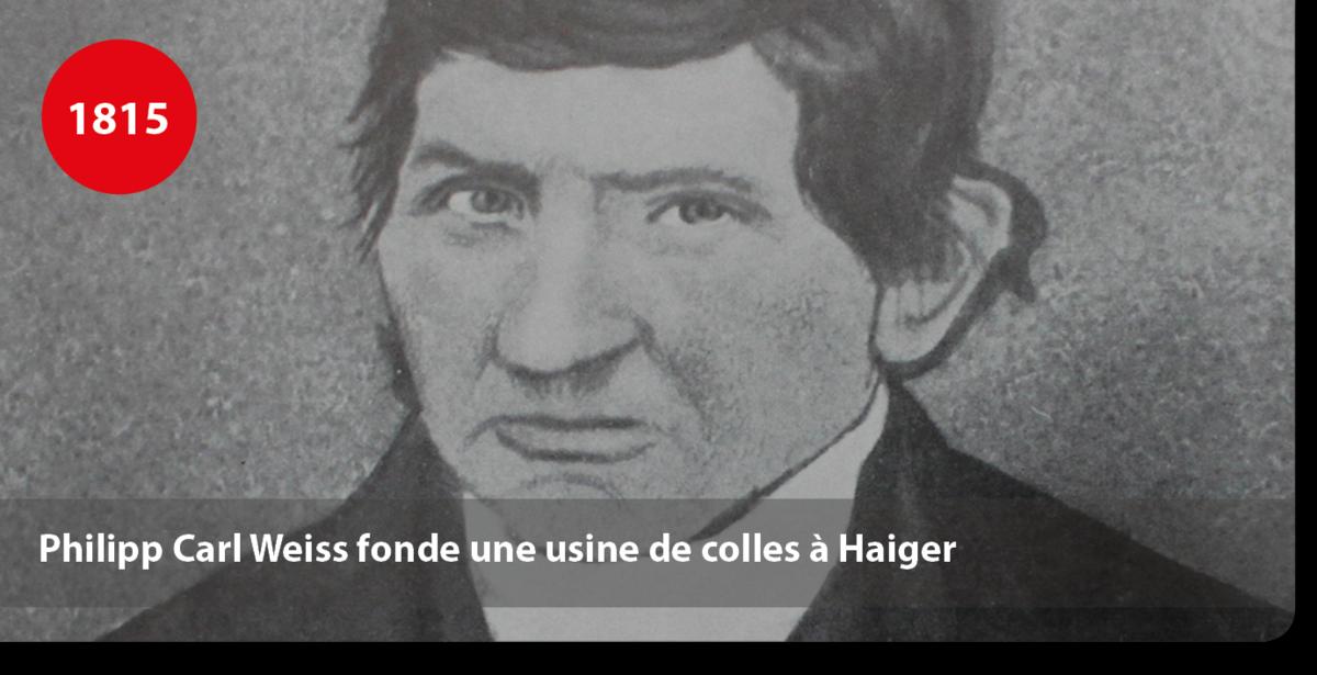 Philipp Carl Weiss fonde une usine de colles à Haiger