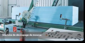 Machine de découpage de mousse