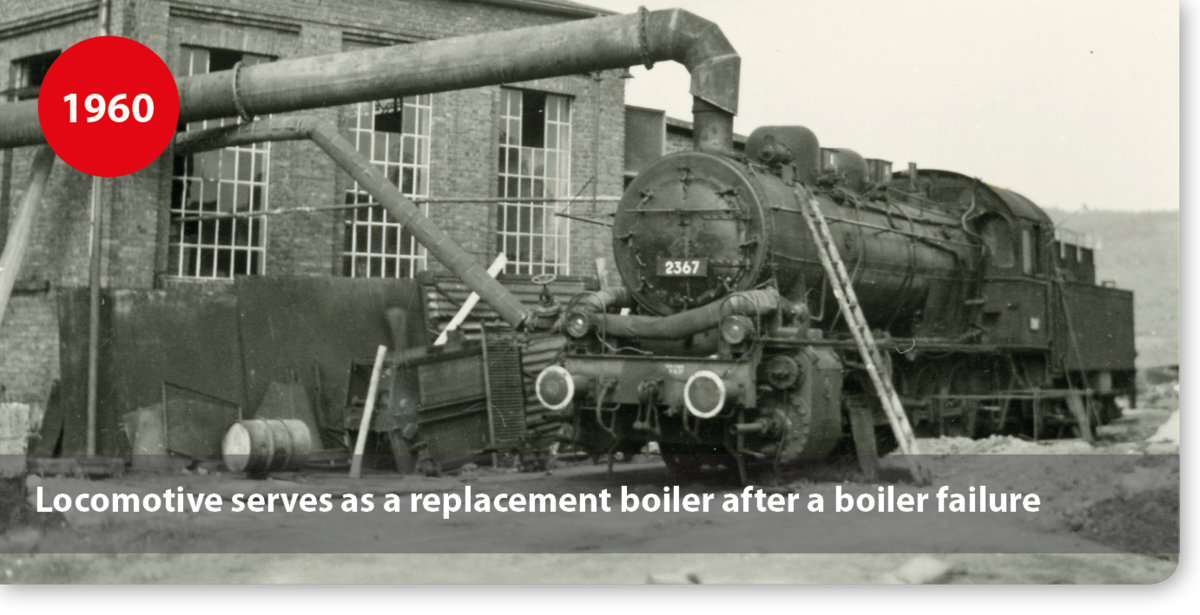 Locomotive serves as a replacement boiler after a boiler failure