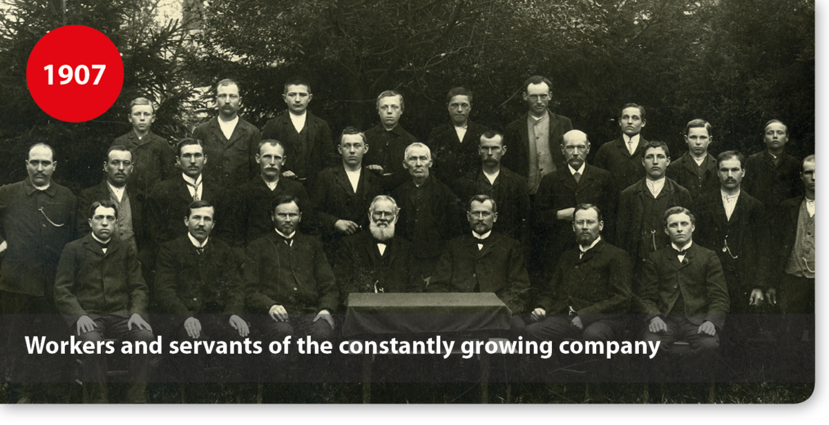 Workers and servants of the constantly growing company