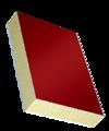 Сэндвичные элементы Покрытие с одной стороны из алюминия, наполнитель из жесткого пенополиуретана, обратная сторона из ПВХ
