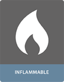 Colle pour adhesif pour application inflammabler