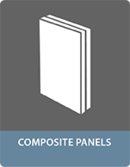 Bonding with adhesives composite panels