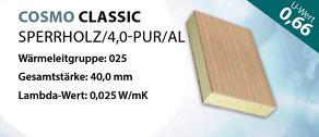 Sandwichplatte COSMO Classic Sperrholz U-Wert 0,66