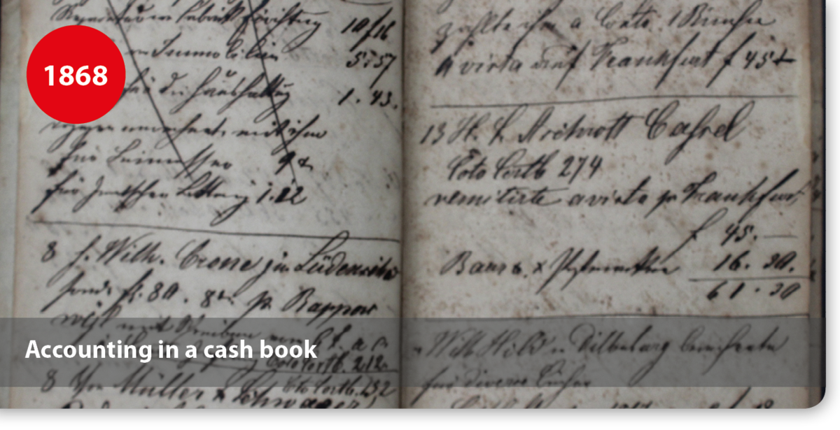 Accounting in a cash book