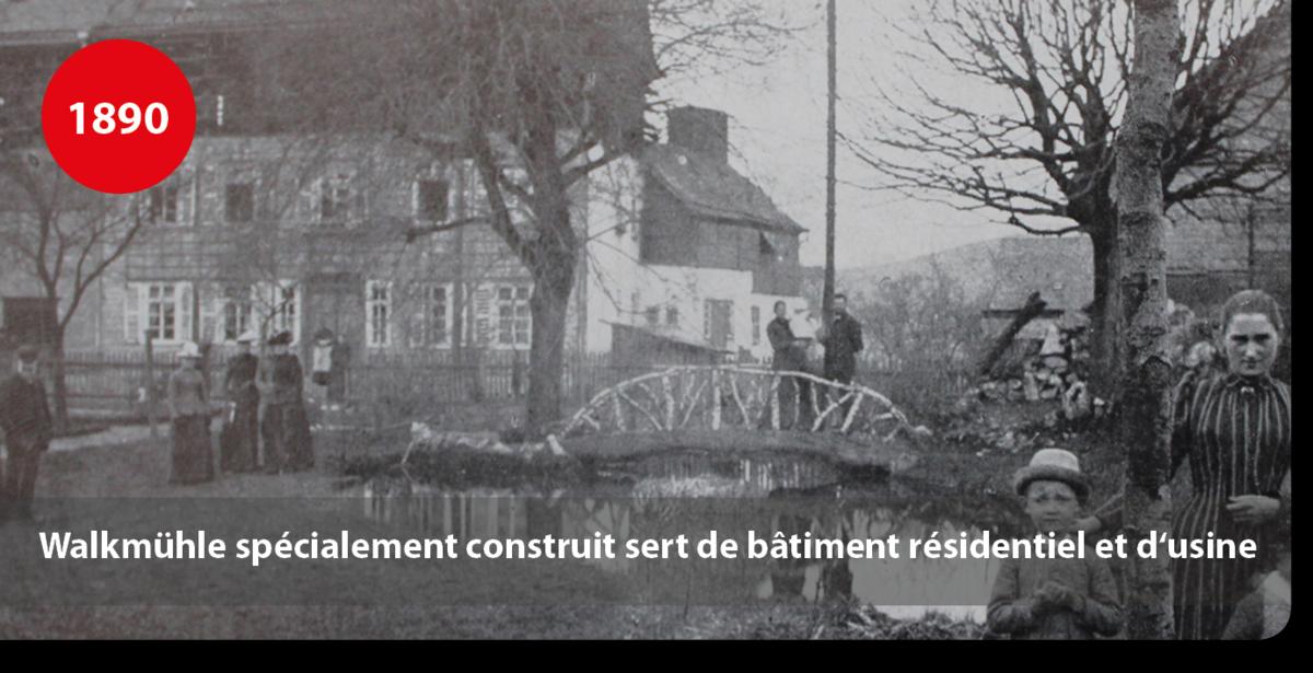 Walkmühle spécialement construit sert de bâtiment résidentiel et d'usine