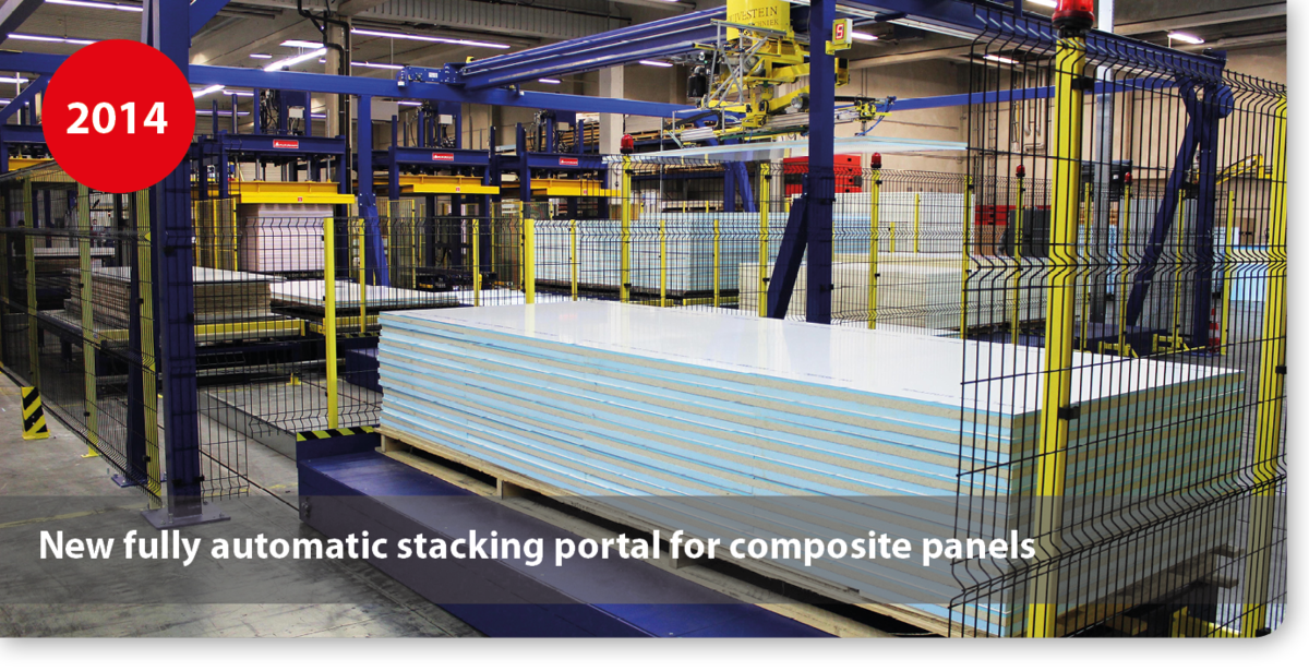 New fully automatic stacking portal for composite panels
