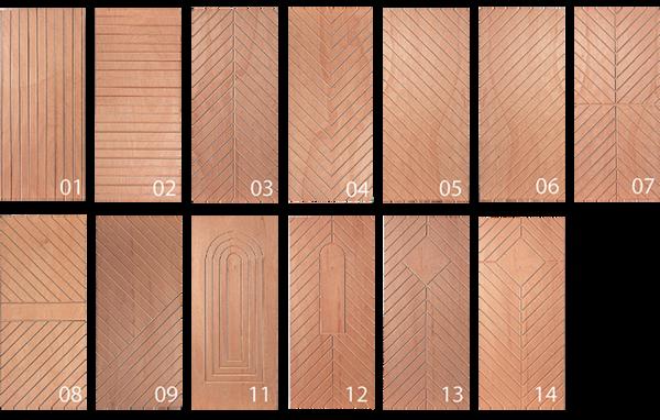 Design-Übersicht für gefräste Deckschichten