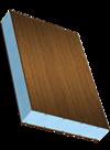 Сэндвичные элементы Покрытие из СПВД с декоративной пленкой с одной стороны, наполнитель из экструдированного пенополистирола, обратная сторона из ПВХ