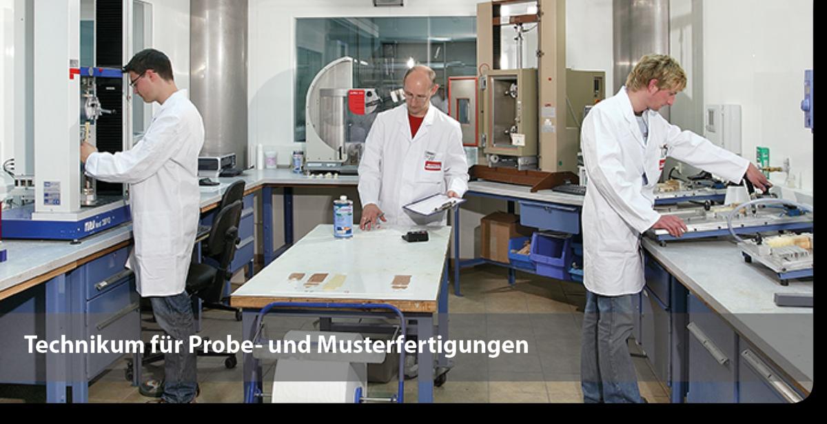 Technikum für Probe- und Musterfertigungen für Klebstoffe
