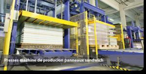 Presses machine de producion panneaux sandwich