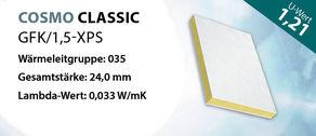 Sandwichplatte COSMO Classic GFK U-Wert 1,21