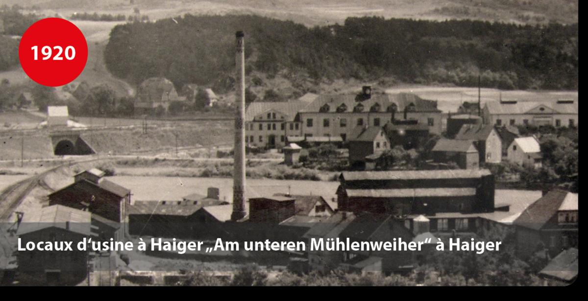 """Locaux d'usine de colles à Haiger """"Am unteren Mühlenweiher"""" à Haiger"""