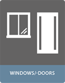 Bonding with adhesives windows and door application