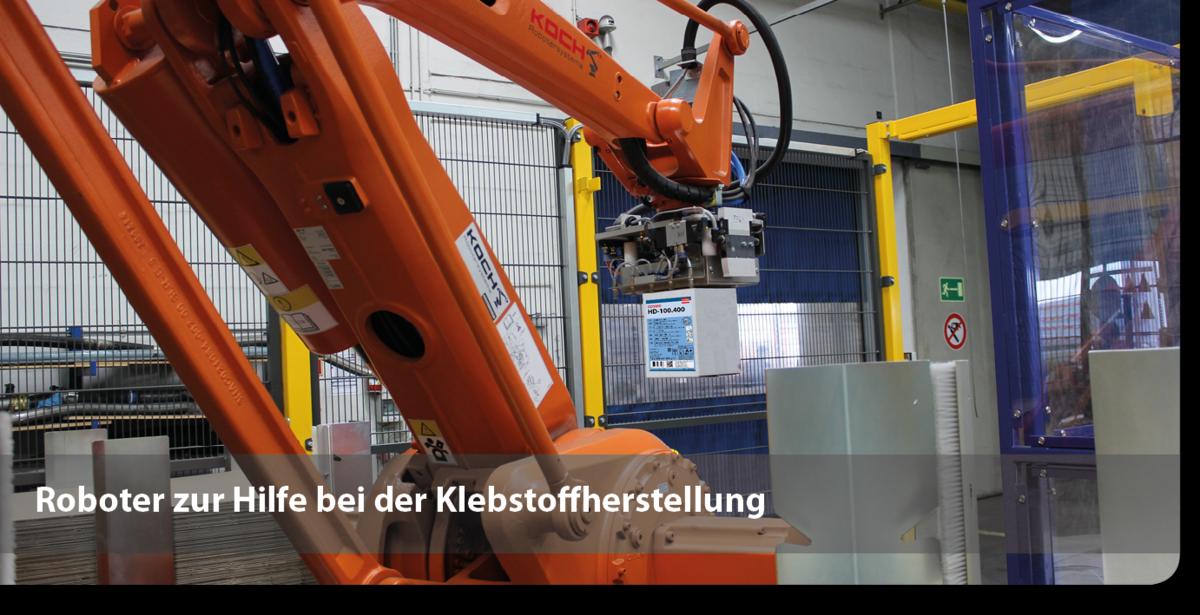 Roboter bei der Klebstoffherstellung