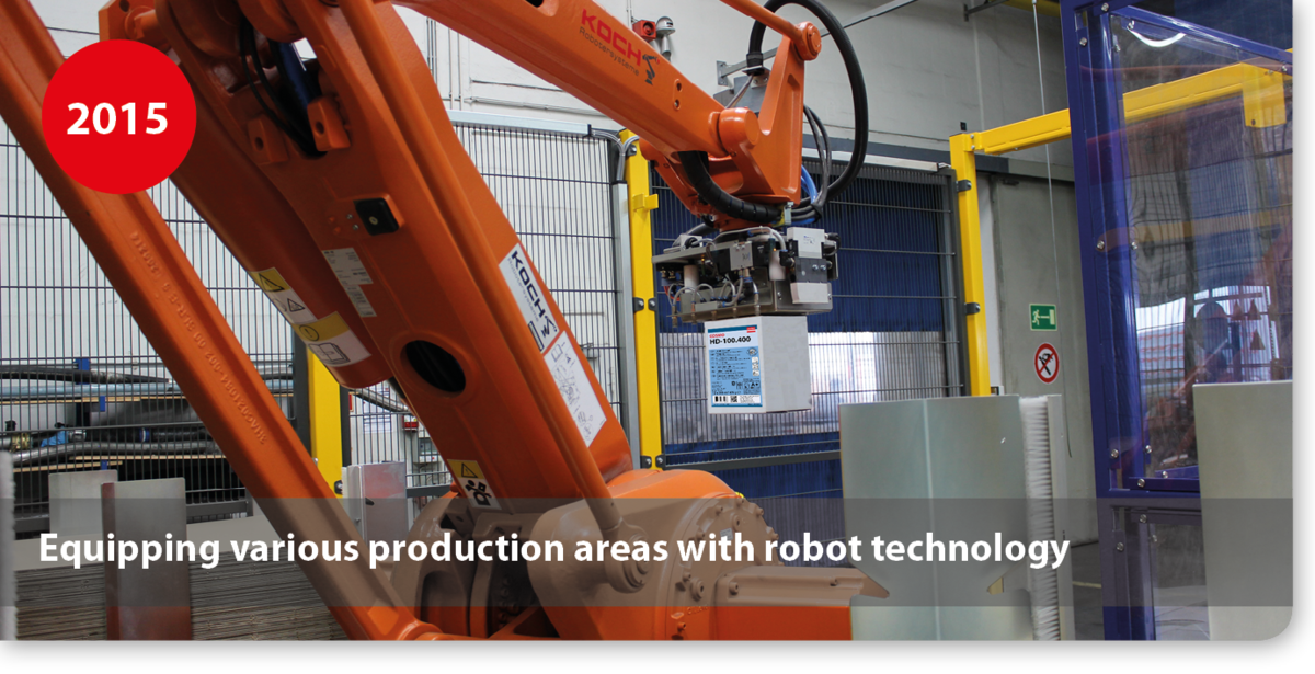 Equipping various production areas with robot technology