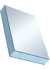 Сэндвичные элементы Покрытие из ПВХ со структурированной поверхностью с двух сторон, наполнитель из экструдированного пенополистирола