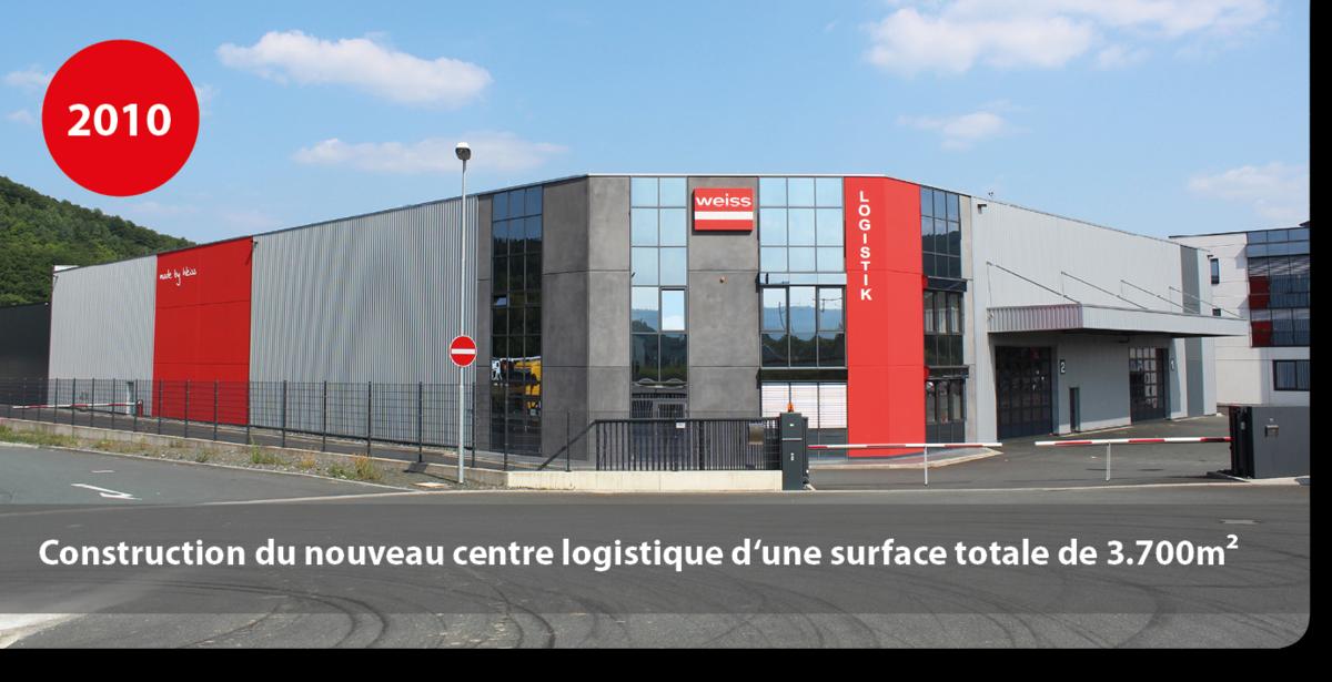 Construction du nouveau centre logistique d'une surface totale de 3.700m²