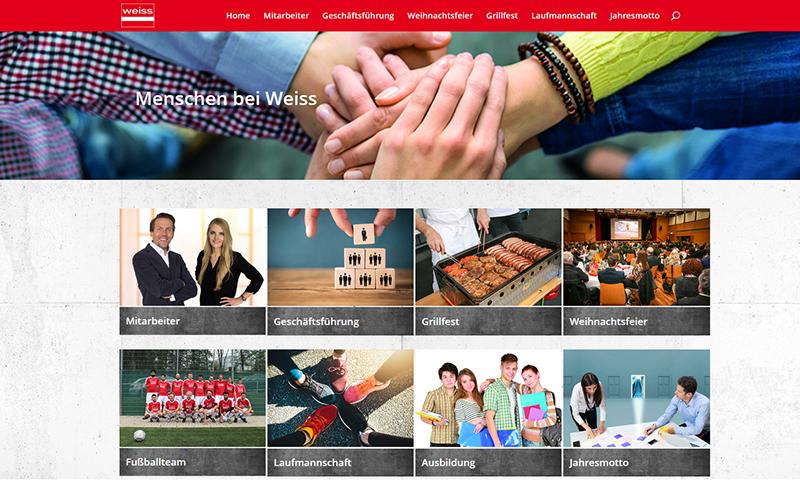 Webseite Menschen bei Weiss | Mitarbeiter bewerten Weiss