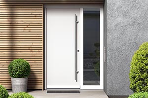 Bonding of leaf-enclosing entrance door panels