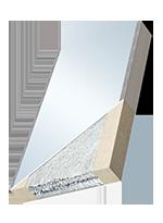 Elementi per facciate sottovuoto ad alto isolamento termico