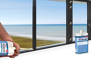 Eckwinkel-Verklebungen im Alu-Fenster- und Türenbau
