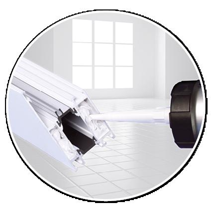 Eckwinkelklebung Im Klassichen Verfahren Bei Aluminium Fenster Und