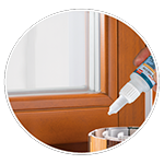 Verklebung von Abschlussleisten auf folienkarschierte PVC-Profile
