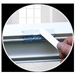 Reparaturmasse für Kunststofffenster