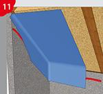 Anschlussverklebung von Dampfsperren / Dampfbremsen an z.B. rauhe mineralische Materialuntergründe