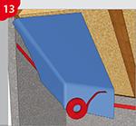 Anschlussverklebung von Dampfsperren / Dampfbremsen mit z.B. COSMO DS-450.110, dem alternativen Klebstoff auf der Rolle!